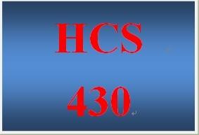 HCS 430 Week 2 Regulatory Agency Paper