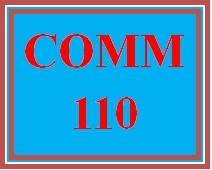 COMM 110 Week 4 Presentation Peer Review
