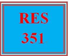 RES 351 Week 2 Quiz 1