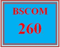 BSCOM 260 Week 5 Final Project Training Instructions