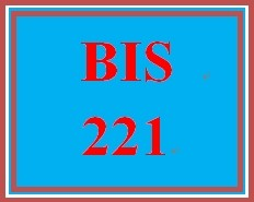 BIS 221 Week 5 Practice: Online Applications