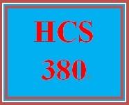 HCS/380 HCS 380 HCS380 hcs380 HEALTH CARE ACCOUNTING