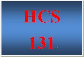 HCS 131 Week 2 Technology Worksheet