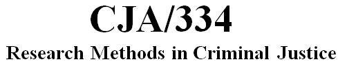 CJA 334 Week 5 Learning Team Res Proposal Part II