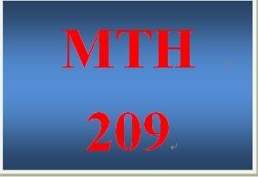 MTH 209 Week 1 participation Watch the Supplemental Week 1 Videos