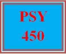 PSY 450 Week 3 Psychological Disorder Paper