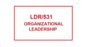 LDR 531 Week 6 Quiz