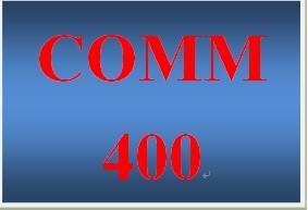 COMM 400 Week 1 Communications Journal Entry 1 – Organizational Communication