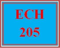 ECH 205 Wk 3 Discussion