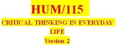HUM 115 Week 4 Problem Solving Worksheet