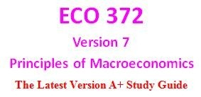 ECO 372 Week 2 Product Purchases and the Economy