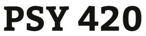PSY 420 Week 1 Learning Team Charter