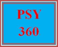 PSY 360 Week 4 Problem Solving Case Study