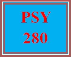 PSY 280 Week 4 Week Four Quiz