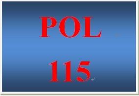 POL 115 Week 3 U.S. Federal Bureaucracy and Public Policy Worksheet