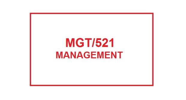 MGT 521 Week 3 Knowledge Check