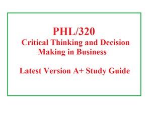 PHL 320 Week 1 Critical Analysis Worksheet