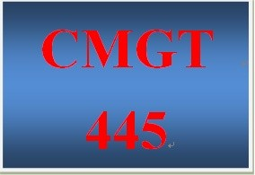 CMGT 445 Week 1 Participation Supporting Activity Integrating Domain-Specific Needs