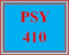 PSY 410 Week 2 Week Two Assignment Worksheet