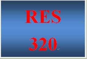 RES 320 Week 5 Final Examination