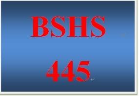 BSHS 445 Week 4 Intervention Strategies Summary Paper