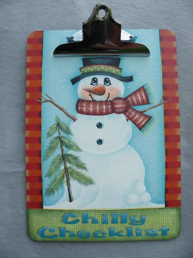 e355 Chilly Checklist Clipboard