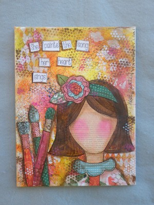 e542 She Paints Mixed Media/Decorative Painting EPacket