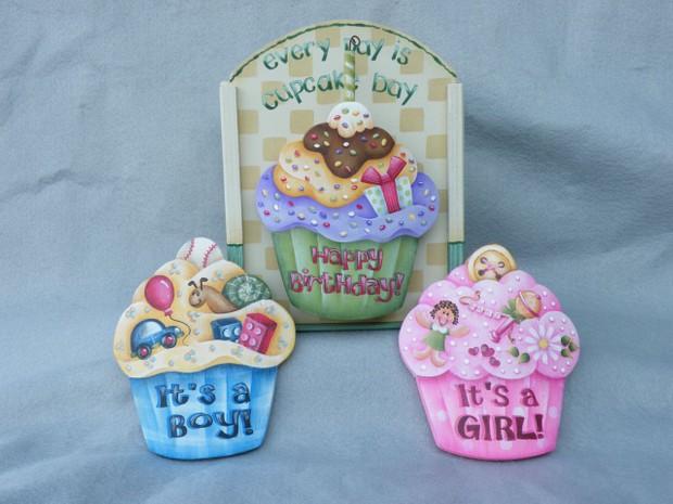 e454 Everyday Cupcakes Baby Boy-Baby Girl-Birthday