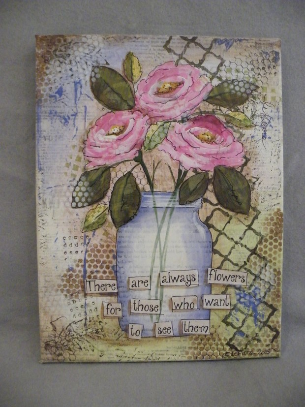 e523 Always Flowers - Mixed Media Project