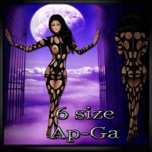 Sexy circle pvc outfit black sexy