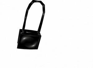 Black pvc bow bag/purse