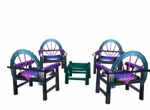 4 chair +  table mesh