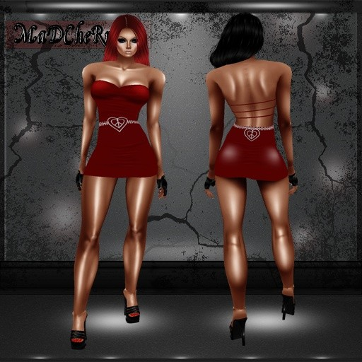 04Red Mini dress outfit GA