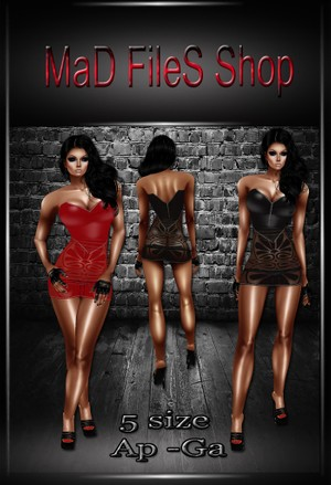 03red Dress&Outfit-PVC black and red