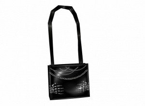 Black pvc bone hands purse/handbag