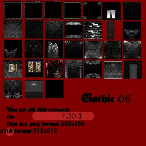 Big pack - All gothic Textures Set 1- 7
