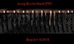 Long pvc boots female
