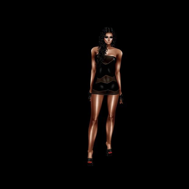 06 Black sexy mini dress AP + GA