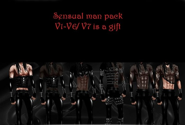 Sensual man pack V1-V6/ V7 is a gift