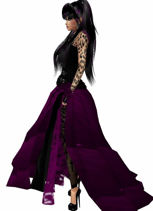Angel Dress purple black