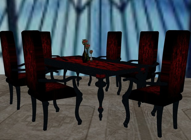 Baroque Table Set Mesh