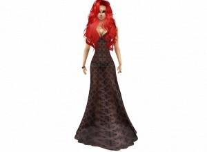2 long dresses 1 black, 1 red