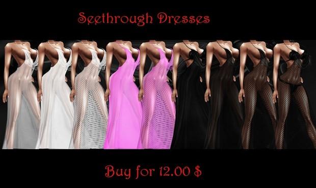 Seethrough dresses as above