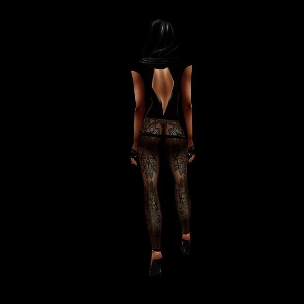 07 black laced bodysuit