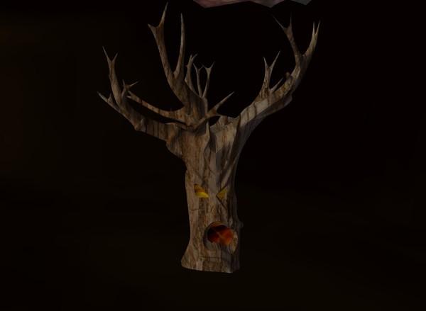 Spooky tree halloween