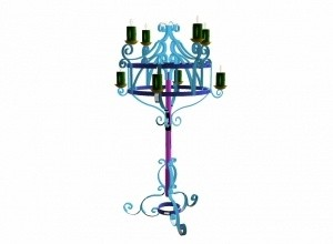 Gothic-Revival-Candlestand