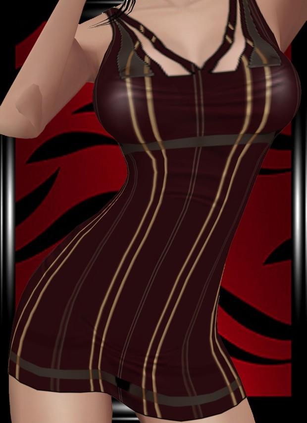 Red striped minidress