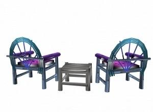 Beach chair set mesh