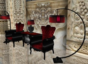 Chair Set Mesh baroque-Gothic