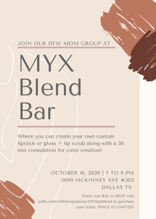 MYX Blend Bar Ticket
